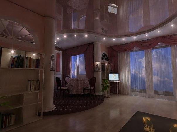 Выбираем потолок для зала (гостиной): натяжные потолки двухуровневые, навесные или подвесные из гипсокартона + фото дизайна