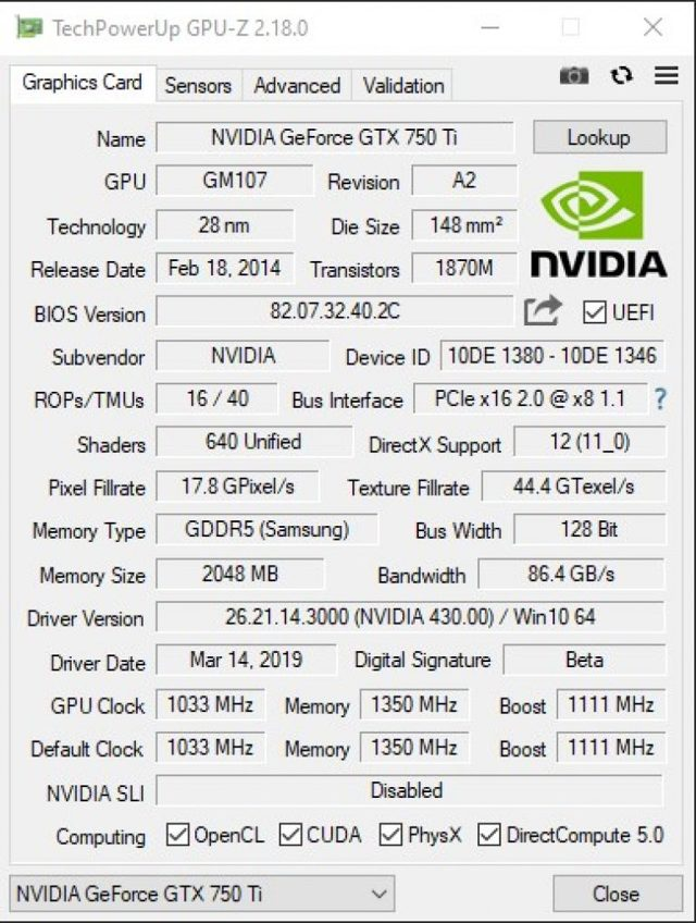 Видеокарта nvidia geforce gtx 750 ti характеристики, тест, обзор, отзывы, производительность в играх